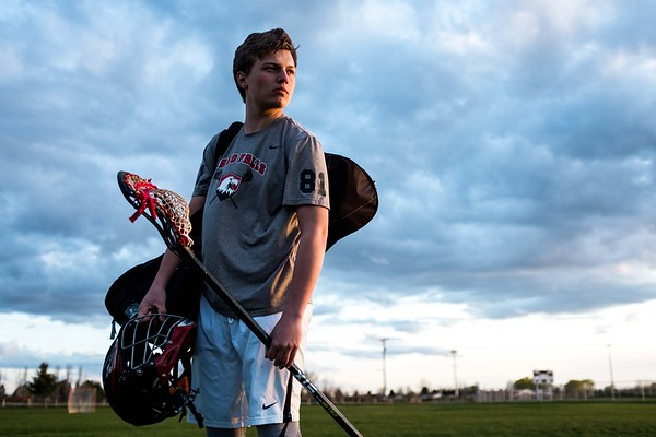 Dawson Thompson Lacrosse Idaho Falls Tigers Senior Pictures