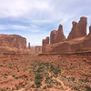 Tall Spires of Red Rocks in Utah's National Parks