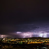 A summer monsoon storm over Silver City, NM.