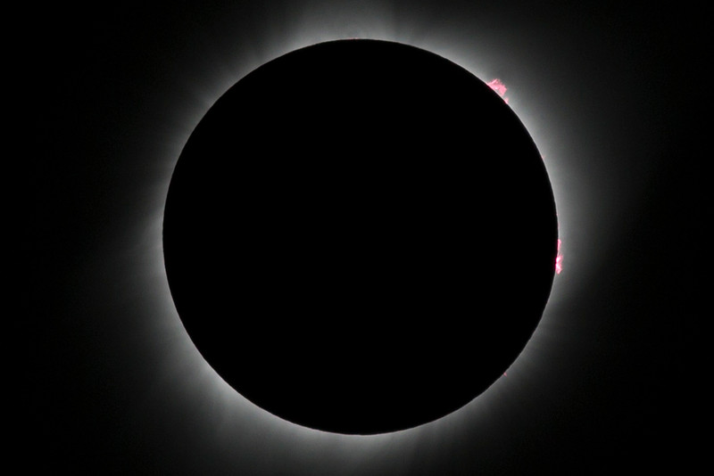 Solar prominences seen during the total solar eclipse of 2017.