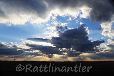 Sunset over Grundy County