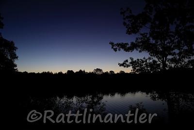Sunrise over Lake Drummond