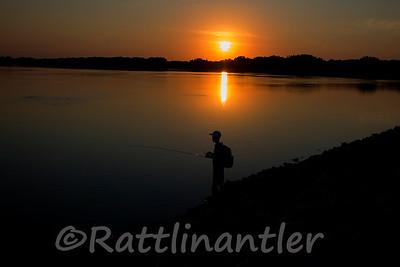 My Son fishing Heidecke Lake