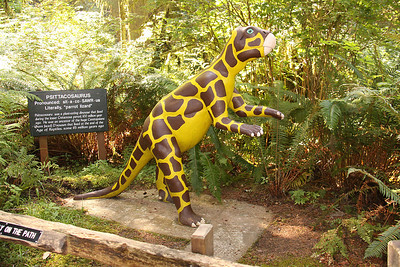 """Psittacosaurus, """"parrot lizard"""" although the way it is painted I say """"giraffe lizard"""" would be a good name."""