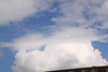 Cumulus clouds building along the cold front.