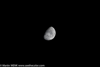 Increasing shadow of the earth before the total lunar eclipse on December 11th, 2011. Seen from central Tokyo.