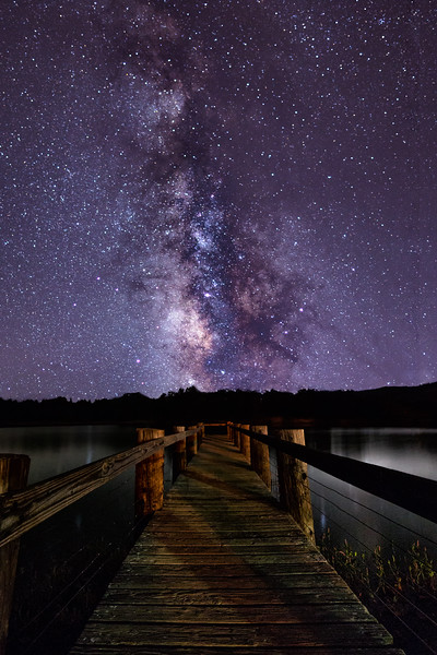 Milky Way over Lake Cuyamaca