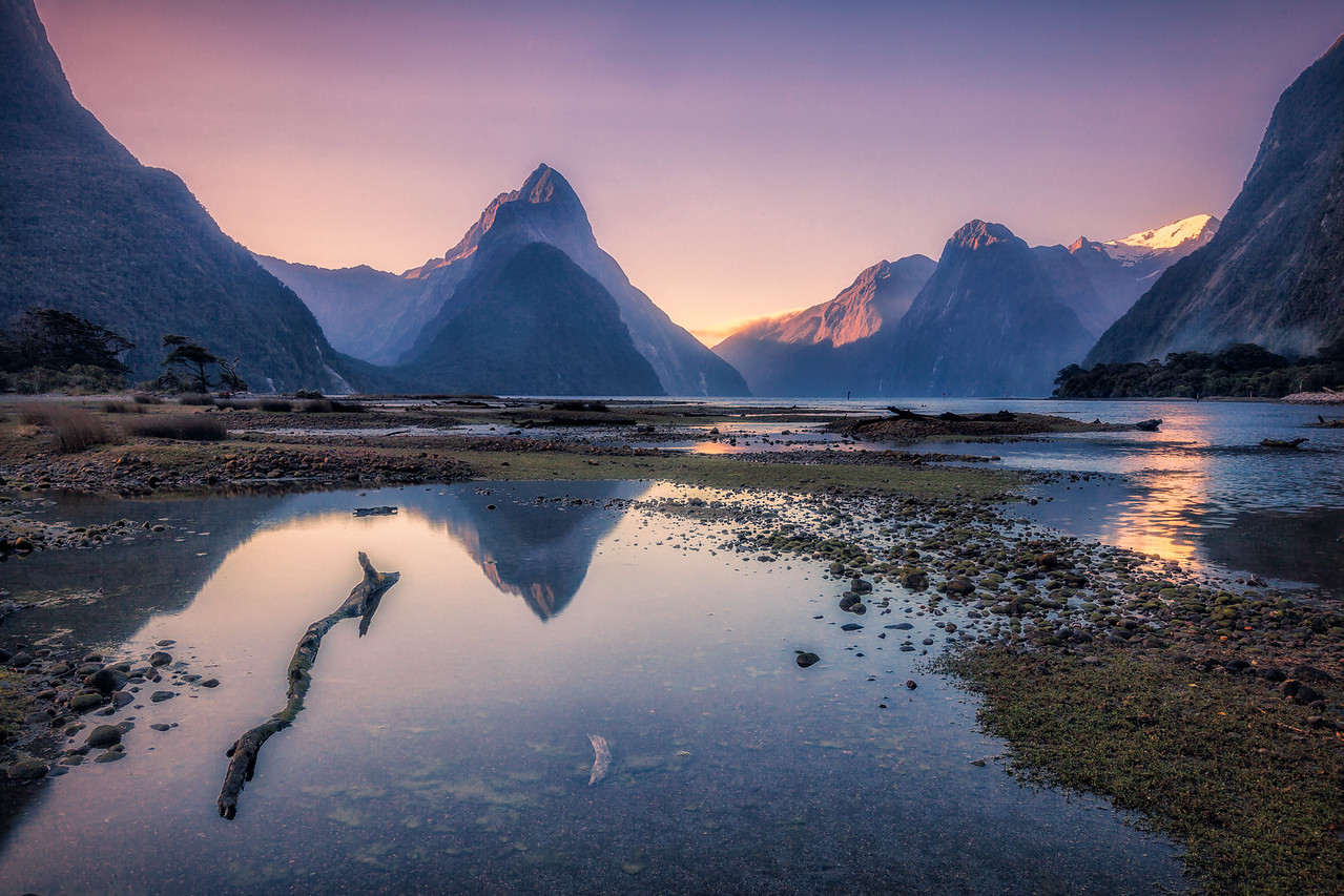 Milford Sound twilight