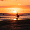 Surfer at Sunset in Costa Rica
