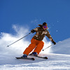 06 Apr 2006, Are, Sweden --- Skier Carving Turn --- Image by © Henrik Trygg/Corbis