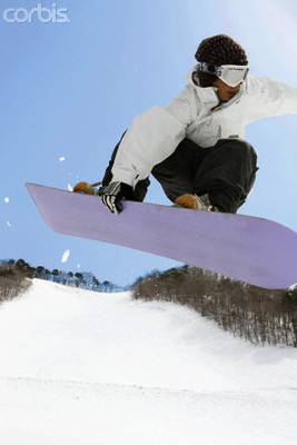 Snowboarder Mid-Air --- Image by © Aflo/Corbis