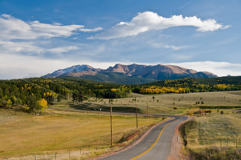 Winding Road to Pikes Peak, Colorado