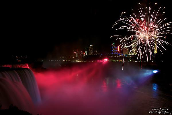 Fireworks At Niagara Falls