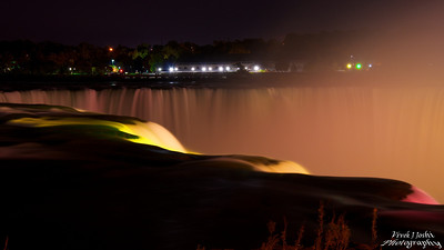 A Gorgeous Night View of Horseshoe Falls From Terrapin Point