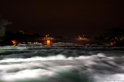 Illuminated American Rapids