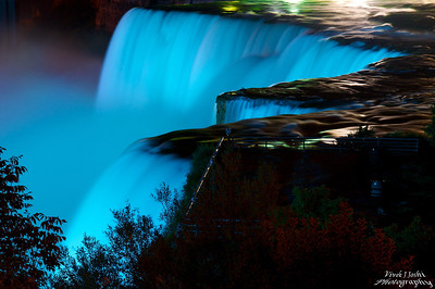 A Beautiful Night View Of American Falls