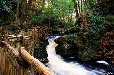 Beautiful Boardwalk Trail to Upper Canyons, Buskill Falls