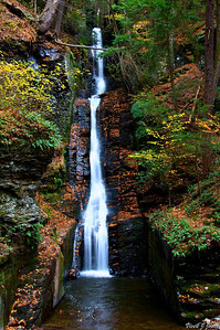 Silver Thread Falls..This is the first set of waterfalls you encounter after entering the trail on the Way to Dingmans Falls. The falls are eighty feet tall...very unique fall!!!