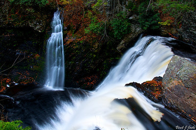 One Small Falls at Raymondskill Falls, Delaware Water Gap