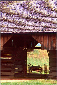 """Barned Wagon"" Shot at the Cantilevered Barn in Cades Cove, part of the Great Smoky Mountains National Park. For more information, visit: http://www.nps.gov/grsm/planyourvisit/cadescove.htm"