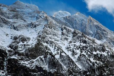El macizo del Monte Perdido desde el valle de Pineta.