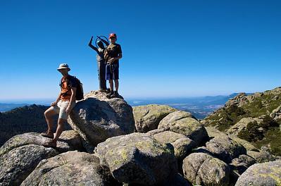 Excursión del 21 de junio a Siete Picos. Comenzamos con el Alto del Telégrafo.
