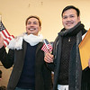 Leominster held its first ever naturalization ceremony on Tuesday, Dec. 17, 2019. 266 individuals became American citizens in a ceremony at City Hall. Posing for pictures after swearing in is Smiley Mom and Raksmey Srin both from Cambodia who now live in Lowell. SENTINEL & ENTERPRISE/JOHN LOVE