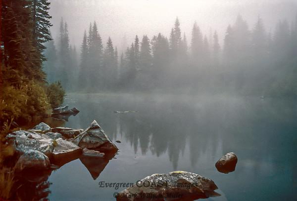 Myrtle Lake in mist
