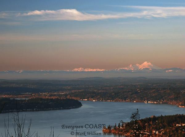 Mt. Baker; Lake Washington; Mercer Island.