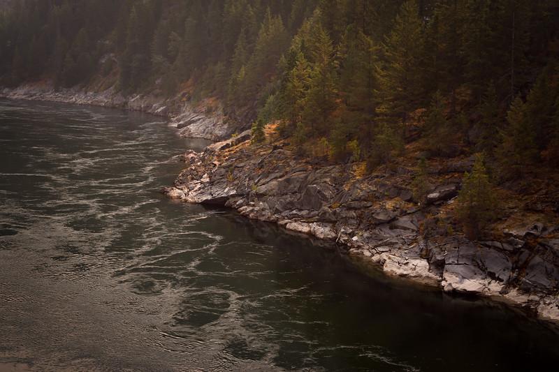 Kootenay River in Haze