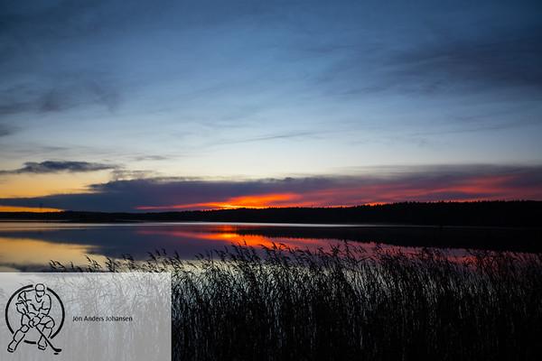 Solnedgang ved Isesjø, 11.11.17