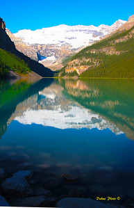 Louise Lake in Banff National park, Canada. Taken in July 2009.