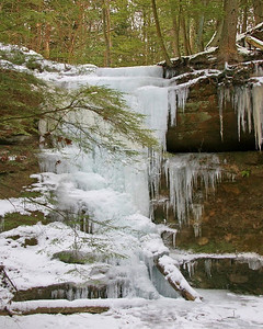 Icy Waterfall at Old Man's Cave Ohio
