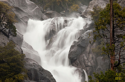 Yosemite NP, yosemite national park, california, ca. water falls.