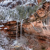 Zion in Winter-Emerald Falls 2, Utah