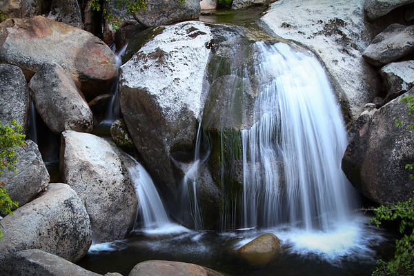 small waterfall in the Sequoia Nation Park.