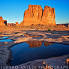 Courthouse Reflections-Arches NP, Utah