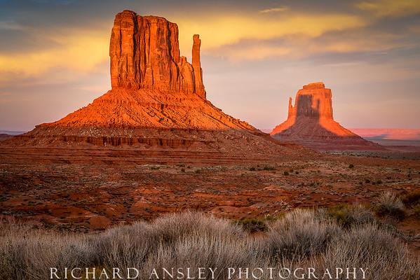 Mittens Shadow 1-Monument Valley, Utah