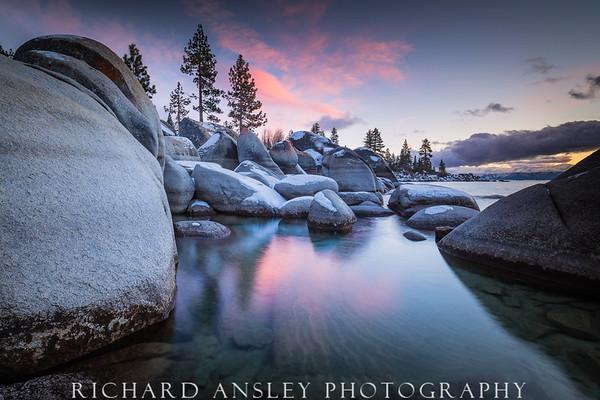 Sand Harbor Sunset-Lake Tahoe, CA