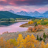 Pastel sunrise at Oxbow-Teton NP, WY