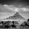 Factory Butte (monochrome)-San Rafael Swell, Utah