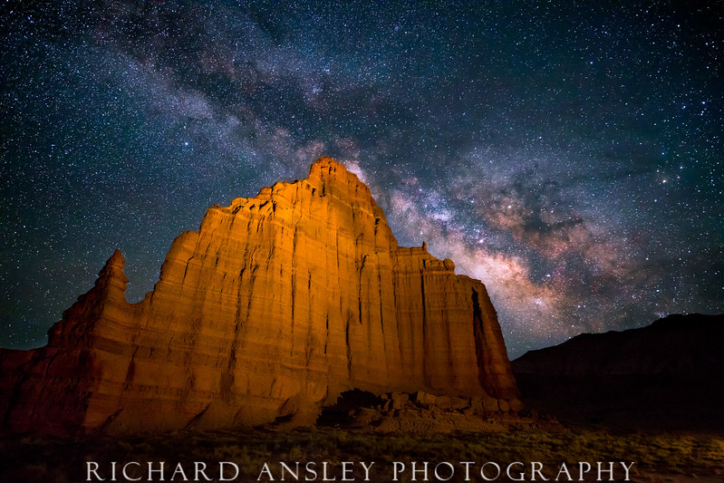 Moon Temple Milky Way-Utah