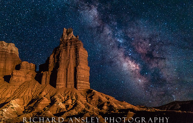 Chimney Rock Milky Way-Capitol Reef, Utah