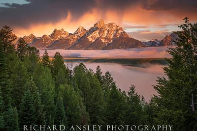 Teton Sunrise Storm, Wyoming