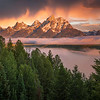 Teton Sunrise Storm, Wyoming