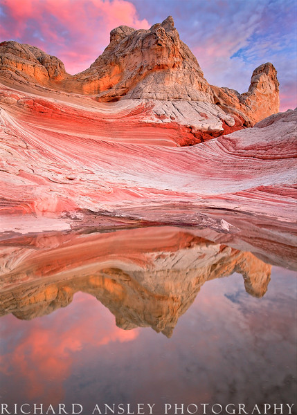 Desert Tower Reflection-Vermillion Cliffs, Utah