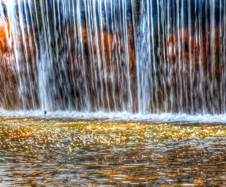 Waterfall on Guadalupe River at Kerrville Texas