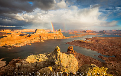 Gunsight Rainbows-Glen Canyon, Utah