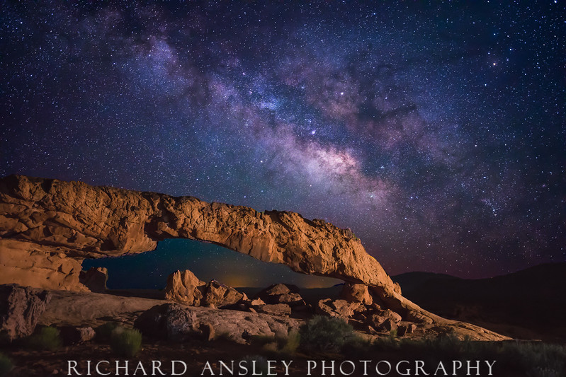 Galaxy Blaze Over Sunset Arch