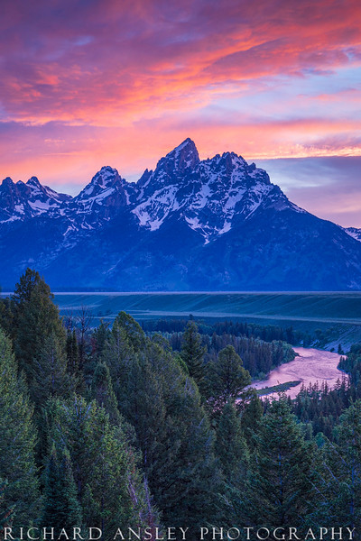 Teton Sunset Over Snake River